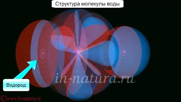 Структура молекулы воды